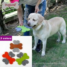 2017 Doglemi Beste Verkaufende Neue Weiche Filz Hund Frisbee Fliegen Spielzeug