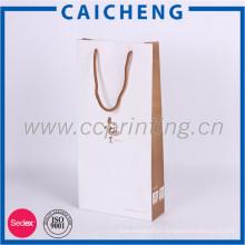 Sacola de compras luxyry de qualidade superior com logotipo OEM