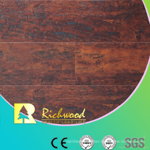 Household 12.3mm High Gloss Teak Waxed Edged Laminate Floor