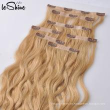 Clip rizado afro rizado en extensiones de cabello para mujeres negras, Clip de extensión de cabello virgen, cabello humano con clip de 8 pulgadas