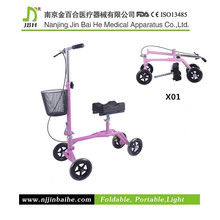 Folding Steerable Walker with Knee Support