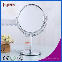 Fyeer Espejo cosmético lateral doble Espejo magnético de maquillaje de latón