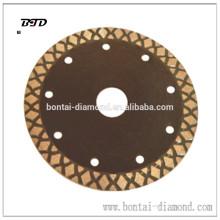 Diamante X disco de corte para corte limpio y rápido de materiales duros que el cortador turbo estándar