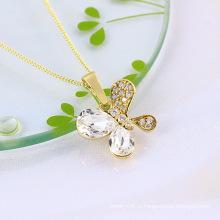 Мода ювелирные изделия медные бабочки подвеска с кубической циркония