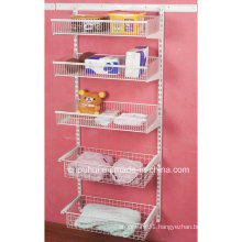Coated Wire Wall Mounted Wire Shelf (LJ1009)