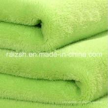 Flanelle en polyester teintée / Toile de corail / Tissu pour vêtement, Hometextile