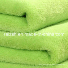 Tingida de poliéster flanela / coral / tecido para vestuário, Hometextile