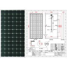 18 V 36 V 190 Watt 195 Watt 200 Watt 205 Watt Monokristalline Solarmodul PV Modul mit Ce Genehmigt