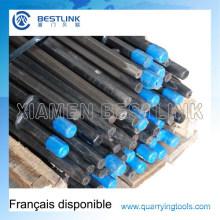 Hexagon 108mm Taper Drill Steel para Minería de Roca