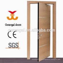 Porte pivotante double pivotante en bois pour l'intérieur