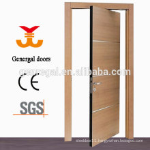 Interior wooden double swing pivot door