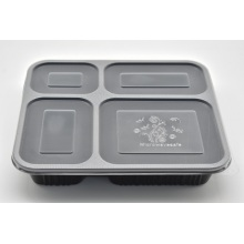 4 Grid Disposable PP Food Containers