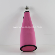 Blank Pink Color 3mm Neoprene Champagne Bottle Holders