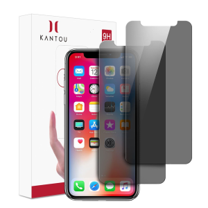 KANTOU Privacy 9H Vidrio Templado para iPhone X