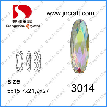 Longo oval cristal ab moda pedras talão (dz-3014)