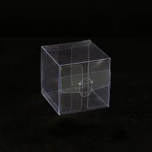 Caja de regalo de plástico PET transparente de acetato plegable