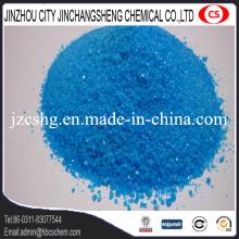 Cristal azul do adubo do sulfato de cobre