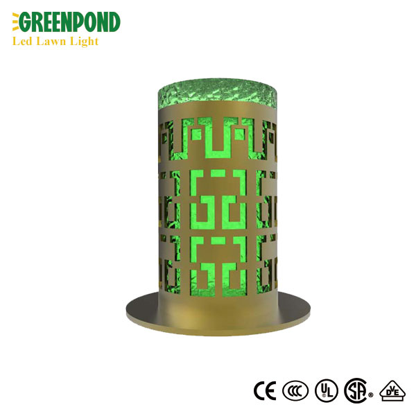 Lawn Lamp with Patterned Bollard