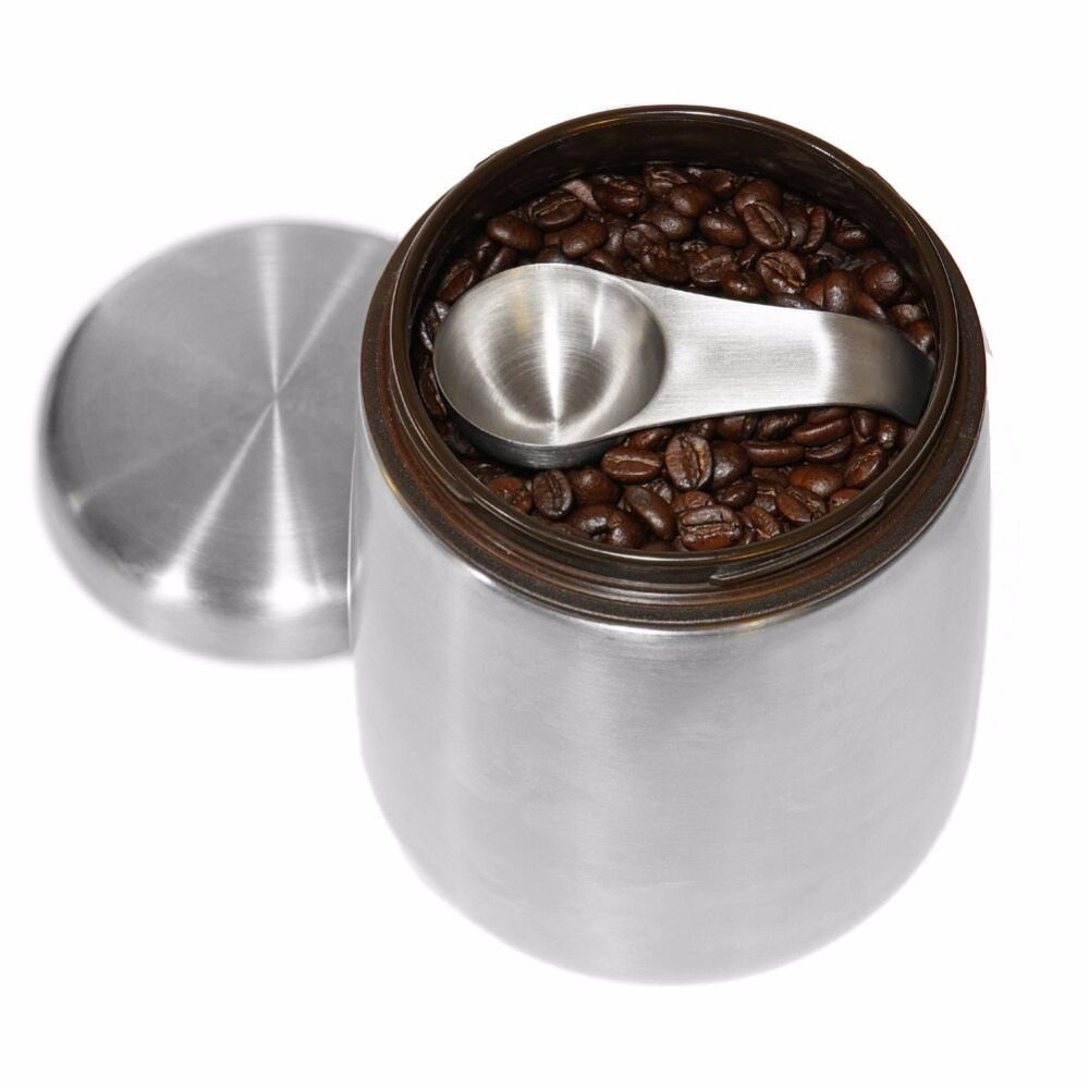 Coffee Canister Airtight Container Stainless Steel Food 1