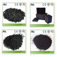 Pellet activado a base de madera de carbón para la purificación del aire