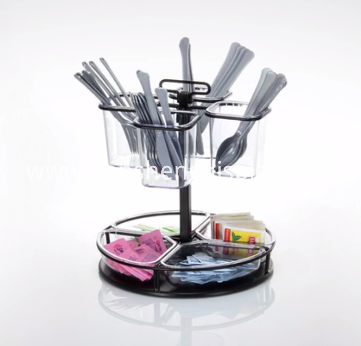 Coffee and Condiment Rotary Organizer