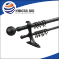 canton fair best selling black iron spray-paint tension curtain pole