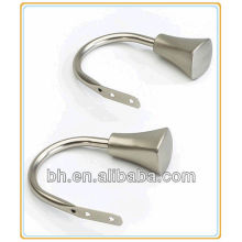 Titular de tieback de cortina, suporte de placa de aço inoxidável, suporte de isqueiro retrátil