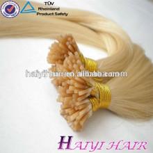 Алибаба дешевые #613 блондинка человеческих волос я Наклоняю выдвижение предварительно скрепленные волосы Соткать человеческих волос 1 г/прядь Бесплатная образцы