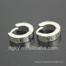 2012 new fashion Stainless Steel Hoop Earrings for Men