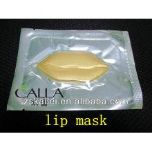 Máscara de lábio de cristal de colágeno ouro