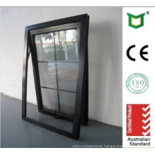 Best Selling Aluminum Top Hung Window with Double Glass