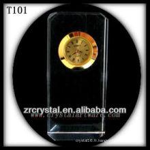 Magnifique horloge en cristal K9 T101