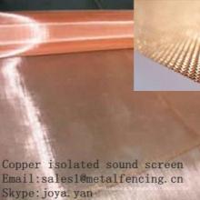 Écran sonore isolé de cuivre