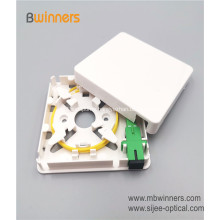 Telecommunication Equipment 1 Core Fiber Wall Socket Splitter FTTH caxia Mini Terminal box
