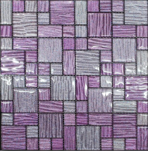 Fashion Purple Color Glass Mosaic