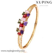 50983-Xuping novo estilo pulseira de cristal de ouro com ouro 18k chapeado