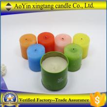 Decoração de casa perfumada vela pilar colorida