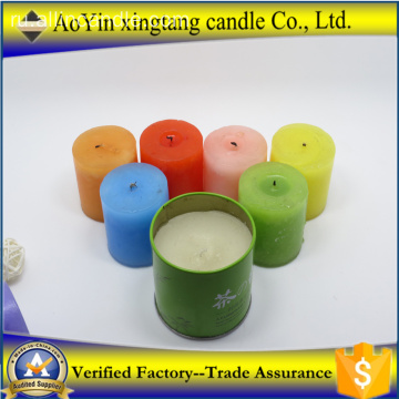 Home+decoration+scented+colorful+pillar+candle