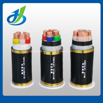 Cable de alimentación con aislamiento de PVC / XLPE de baja tensión 0.6 / 1KV