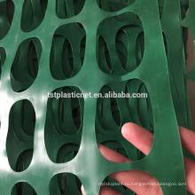 Высокое качество оранжевый пластиковый барьер безопасности забор / экструдированные полипропиленовые пластиковые сетки ограждения