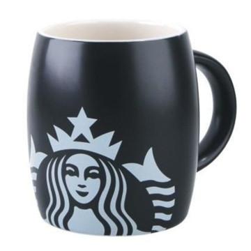 Starbucks Black Coffee Carving Mug