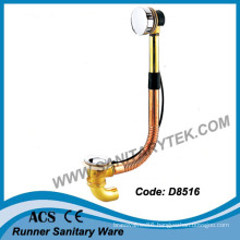 Brass Bath Tub Drain and Overflow with Trap (D8516)
