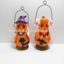 Lovely ceramic LED light halloween decoration