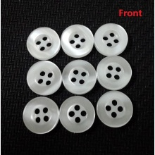 White Resin Button, Free Sample