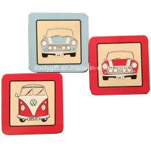 10.5 X 10.5 Cm Impression personnalisée carrée Cork Coaster Coaster Placemat