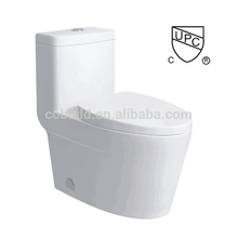 CB-9521 CUPC bathroom design floor mounted single flush one piece upc toilet