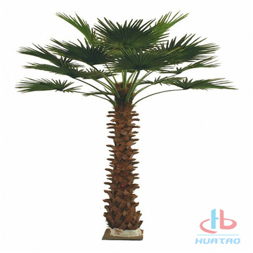 Grön PP PU Artificiell Palm Tree