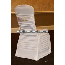 Spandex chair cover with pleated for wedding, ruffled lycra chair cover