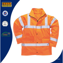 Men′s Orange Hi-Vis Traffic Jacket