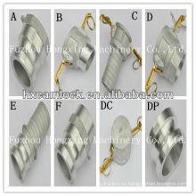 Conexión rápida de aluminio con rosca BSP o NPT